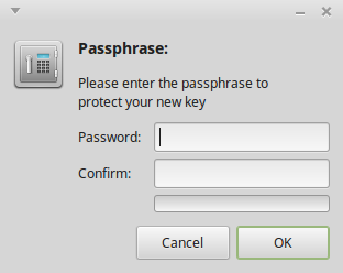 New key passphrase