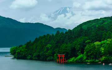 Japan's highest mountain, as seen from Hakone